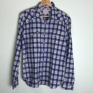 Lucky Brand classic fit cotton shirt size M